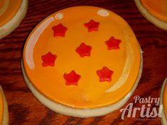 Dragonball sugar cookies