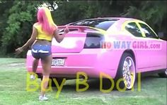 So Ghetto Her Weave Matches The Color Of The Car