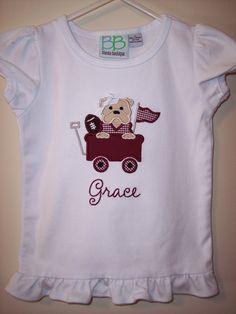 Mississippi State Bulldogs Infant Girls Preppy Dress Bloomers Set