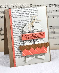 Book Print Birthday Card by Dawn McVey for Papertrey Ink (March 2013)