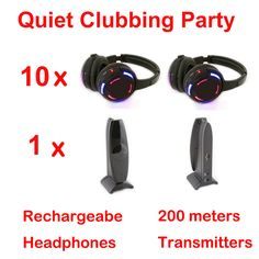 Silent Disco compete system black led wireless headphones - Quiet Clubbing Party Bundle (10 Headphones + 2 Transmitters)     Tag a friend who would love this!     FREE Shipping Worldwide   http://olx.webdesgincompany.com/    Buy one here---> http://webdesgincompany.com/products/silent-disco-compete-system-black-led-wireless-headphones-quiet-clubbing-party-bundle-10-headphones-2-transmitters-2/