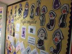 Children in Year 2 studied Florence Nightingale in their history topic and used painting skills to create portraits of her.