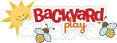 Backyard Play SVG scrapbook title bee svg file playing in backyard svg scrapbook title free svgs