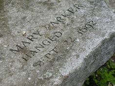 Mary (Ayer) Parker, victim of the Salem, Massachusetts Witch Trials. Direct descendant / great grandmother of Pres. Cemetery Monuments, Cemetery Headstones, Old Cemeteries, Cemetery Art, Graveyards, Paranormal, Salem Mass, Wiccan, Witchcraft