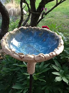 Bird baths - water bowl --- bird bath garden ceramics - a designer piece . Bird baths – water bowl — bird bath garden ceramics – a unique product by Bodenseekeramik on DaWanda Ceramic Bird Bath, Ceramic Birds, Ceramic Art, Bird Bath Garden, Diy Bird Bath, Garden Art, Meditation Garden, Bath Water, Elements Of Art
