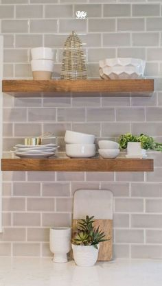 Add a rustic touch with floating shelves! Shop our shelves to get a look like this!