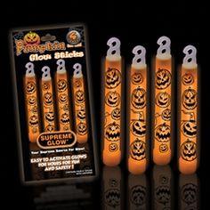 Orange Pumpkin 6 Glow Stick Retail 4 Pack from Windy City Novelties