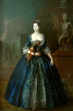 """""""Anna Orzelska with a Pug"""", Antoine Pesne, ca. 1728; National Museum of Warsaw, Nieborów Palace"""