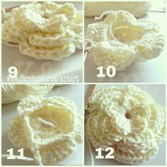 "FREE this is the best photo tutorial I have seen,,,,,,""The difference is in the details"": Big and Small crochet flower pattern"