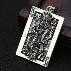 Sterling Silver Poker K Pendant Poker Skull Pendant, antique silver pendants by ShinyShinySoul on Etsy Silver Skull Ring, Skull Pendant, Skull Jewelry, Round Earrings, Sterling Silver Pendants, Antique Silver, Charmed, Necklaces, Bracelets
