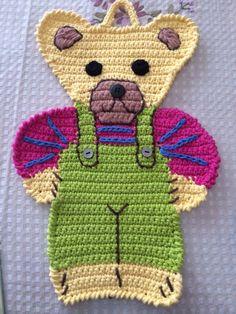 Crochet Teddy Bear placemat potholder crochet by Viktoriyasshop