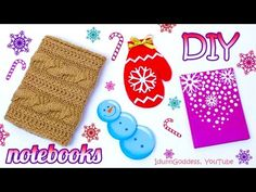 4 DIY Winter Notebooks – How To Make Winter Theme Notebooks - YouTube