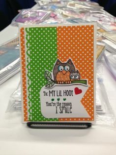 Sweet lil hoot kit to make in our CHA booth