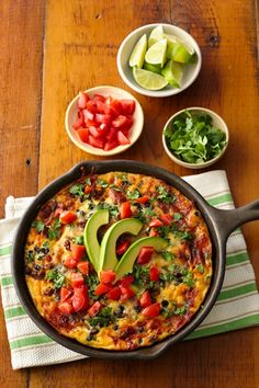 This skillet bake is big on flavor without the fuss! Please hungry family and friends with this easy bake filled with chorizo, cheese and black beans.