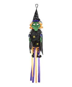 Take a look at this Black Witch Wind Sock by GANZ on today! Collectible Figurines, Witch, Christmas Decorations, Clock, Wind Socks, Halloween Stuff, Collection, Festive, Image Link