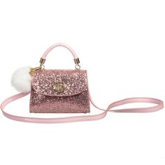 3c669ed784 Young Versace - Girls Pink Glitter Leather Handbag (16cm)
