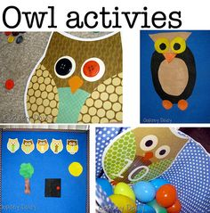 owl activities, crafts or for letter 'O'