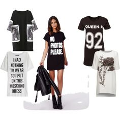 T-Shirt Dresses by telley-m-jay on Polyvore featuring Moschino and Mairi Mcdonald