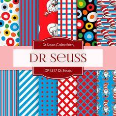 Dr Seuss Digital Paper DP4517 - Digital Paper Shop - 1