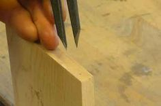 How to mark and cut dovetails