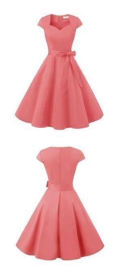 vintage dresses,retro dresses,rockabilly dresses,pink dresses, - New Ideas Elegant Dresses, Pretty Dresses, Sexy Dresses, Beautiful Dresses, Fashion Dresses, Dresses For Work, Pink Dresses, Summer Dresses, Formal Dresses