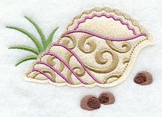 Crafty Cut Seashell (Applique) design (Y3332) from www.Emblibrary.com