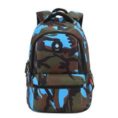 fca422384dff Camouflage Kids School Backpack Travel Military Boy Girl Bag With Pencil Bag  New