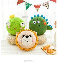 Crochet Mat, Crochet Cushions, Crochet Pillow, Crochet For Kids, Crochet Dolls, Handmade Baby, Handmade Toys, Crochet Pour Halloween, Crochet Designs