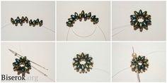 Мастер-класс: плетение сережек-цветочков из бисера твин / Серьги / Biserok.org