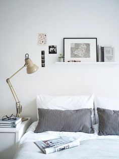 Home tips: styling a picture ledge - a lovely modern Scandinavian style space