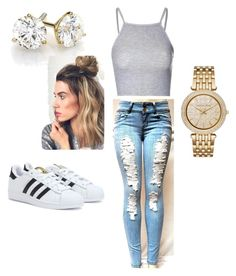 """""""Untitled #3"""" by ceedyy ❤ liked on Polyvore featuring Glamorous, Michael Kors and adidas"""