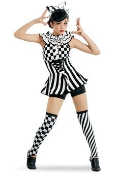 Tap 3 with Miss Georgette Pierrot Costume, Pierrot Clown, Clown Costumes, Circus Costume, Aerial Costume, Dance Recital Costumes, Fascinator Headband, Vintage Style Dresses, Dance Outfits