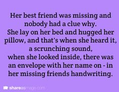 Writing Prompt: Missing Best Friend