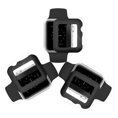 Apple Watch Case & Glass 42mm (Pack of 3) | Black