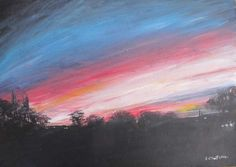 ARTFINDER: sunrise by Rory O'Neill - landscape painting of an early morning sunrise painted in acrylics