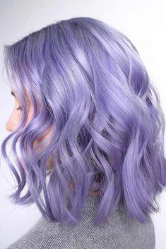 Hair Color - Lavender Violet pastel hair 17 Wonderful Hair Colors - Ideas for Winter Violet Hair Colors, Hair Color Purple, Hair Dye Colors, Light Purple Hair, Periwinkle Hair, Vibrant Hair Colors, Pretty Hair Color, Bright Hair, Pastel Colors