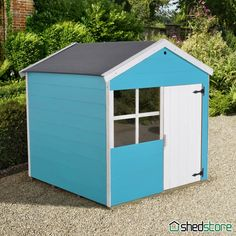 A wooden playhouse is a charming garden addition. A traditional wendy house? A tower playhouse with slide? Shedstore has it all. Kids Wooden Playhouse, Playhouse With Slide, Wendy House, Playhouses, Different Shapes, Raspberry, Shed, Outdoor Structures, Fit
