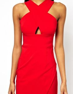 Image 3 ofASOS X Front Pencil Midi Dress