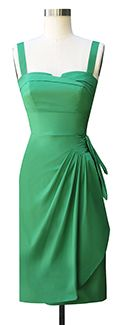 Trashy Diva Trixie Sarong Dress txsarong-greenpoplin Like the style not so much the color