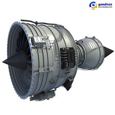 Rolls-Royce Trent 1000 Turbofan Aircraft Engine Model
