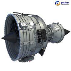 Rolls-Royce Trent 1000 Turbofan Aircraft Engine Model