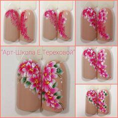 Новости Flower Nail Designs, Diy Nail Designs, Nail Polish Designs, Manicure, Diy Nails, Nail Art Modele, Food Nail Art, Nail Station, Butterfly Nail Art