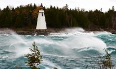 Big Tub Lighthouse during a storm Tobermory Ontario, Big Tub, Weather Network, Hurricane Sandy, The Province, Travel List, Storms, Lighthouses, Lions