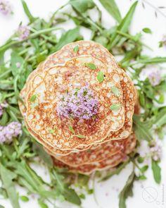 Bezglutenowe pancakesy z maka ryżową i ricottą Ricotta, Cantaloupe, Fruit, Breakfast, Food, Morning Coffee, Essen, Meals, Yemek