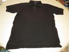Polo by Ralph Lauren Men's short sleeve shirt XL black cotton GUC@ #PolobyRalphLauren #PoloRugby