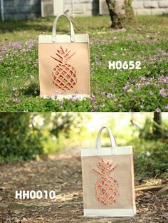 Eco-friendly Felt & Jute Tote Bag with Floral print fabric & Laser cut  Pattern,designed @2087