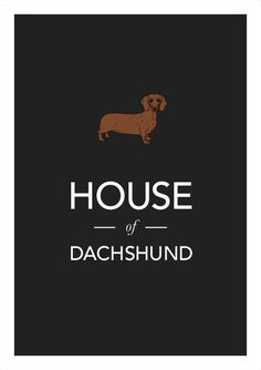 Dachshund print poster art illustration by WeaversofSouthsea.