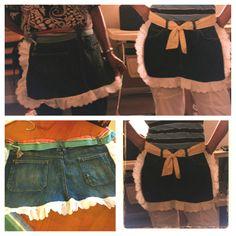 DIY  jean aprons