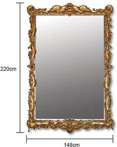 Large Scroll Edge Gold Mirror (Mirror) | photo 2