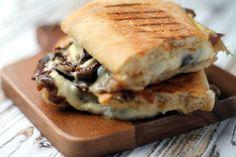 Smoky cheese & caramelised onion panini